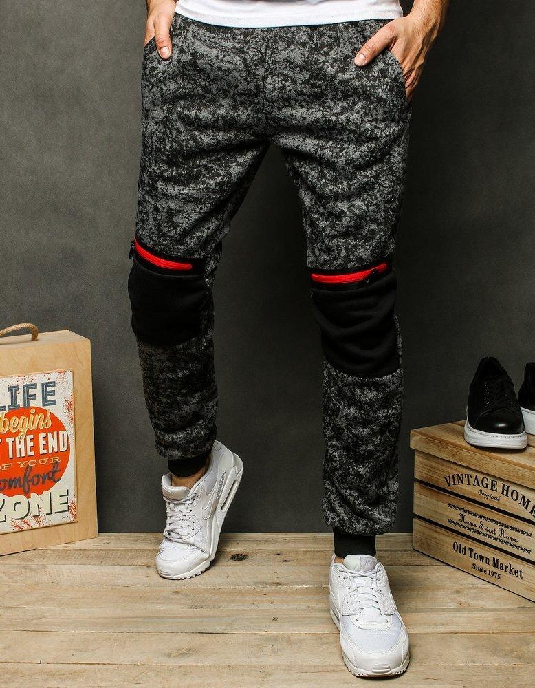 Spodnie męskie dresowe ciemnoszare UX2544