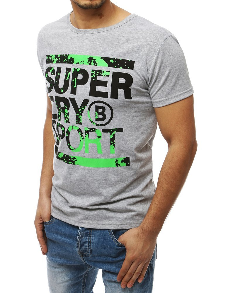 T shirt męski z nadrukiem czarny RX3982 sklep online