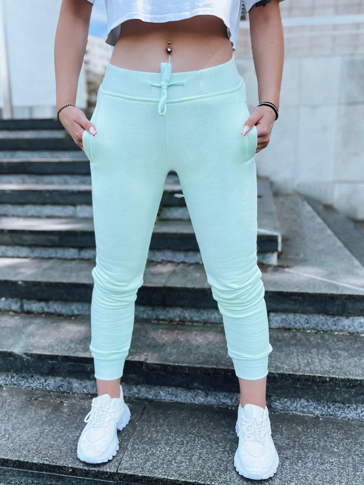 Spodnie damskie dresowe FITS miętowe UY0587