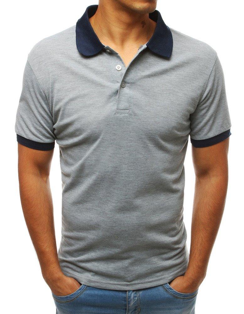 Pánske polo tričko svetlosivé
