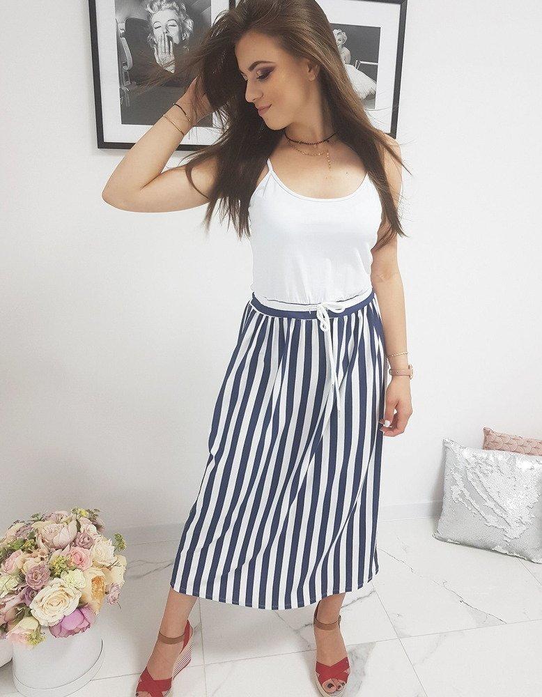 Biele pruhované šaty