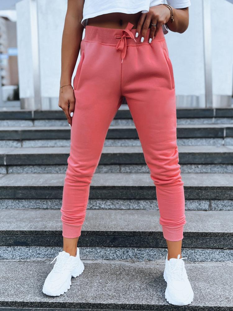 Spodnie damskie dresowe FITS różowe UY0584