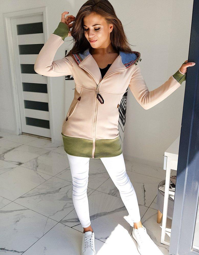 Bluza damska DILANGO beżowa BY0585