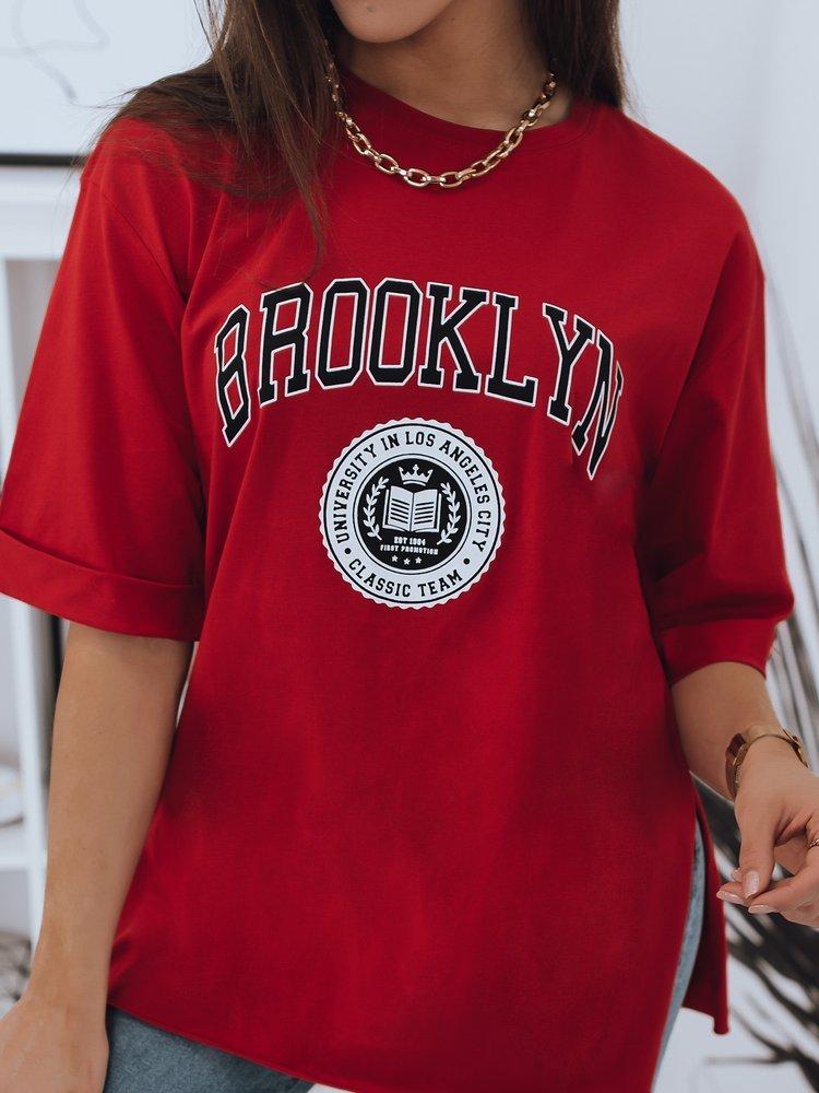 T-shirt damski BROOKLYN czerwony Dstreet RY1654
