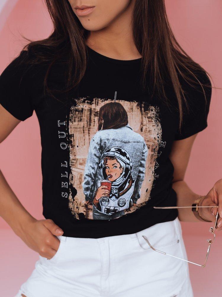 T-shirt damski OUT STYLE czarny Dstreet RY1779