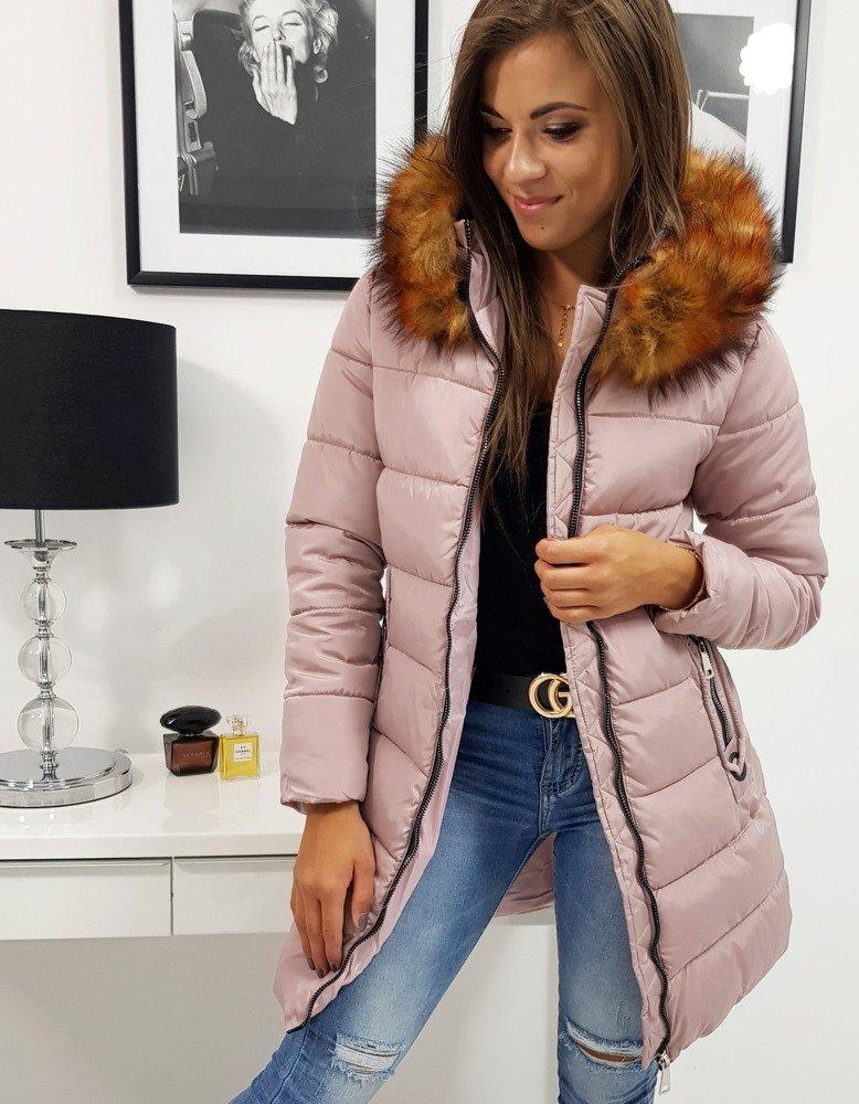 Ružová zimná bunda CARINA (ty0775)