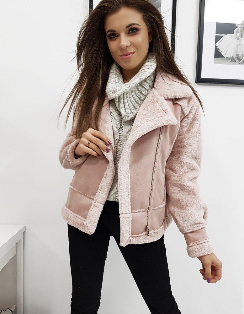 Dámska bunda zimná ružová