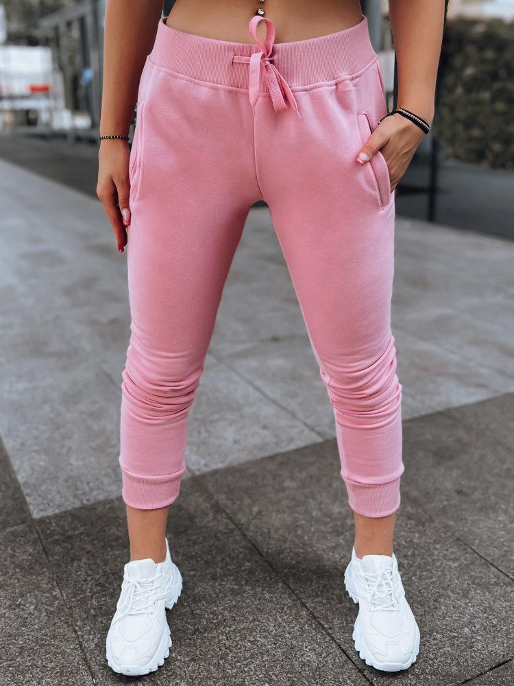 Spodnie damskie dresowe FITS różowe UY0551