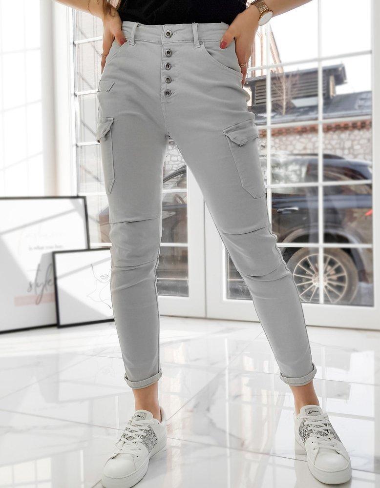 Spodnie damskie ZOE jasnoszare Dstreet UY0728