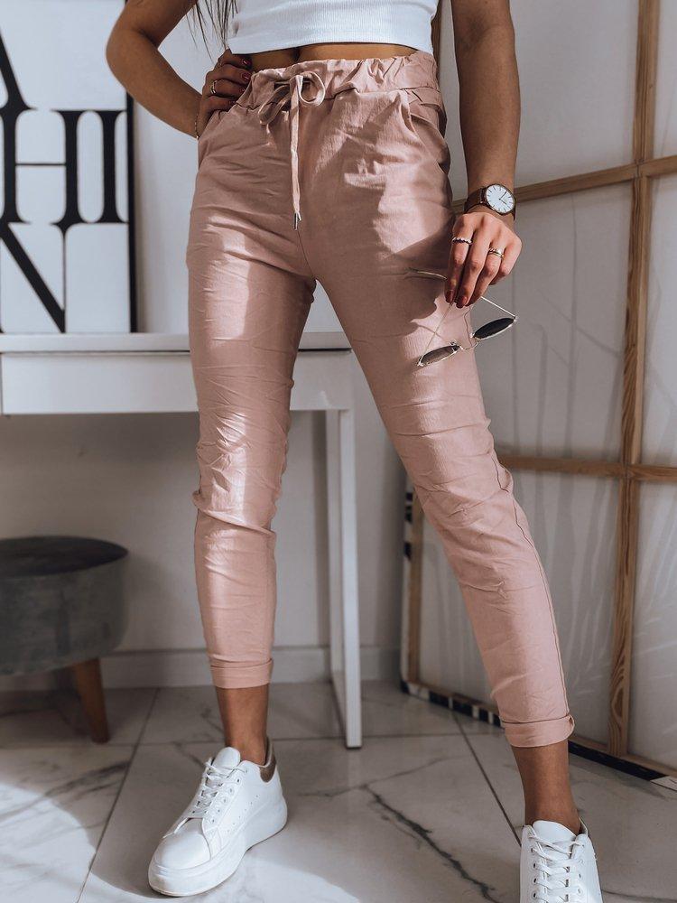 Spodnie damskie OLSENA różowe UY0773