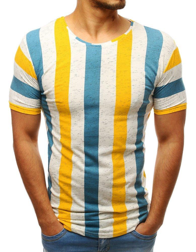 Krátke tričko žlto modré