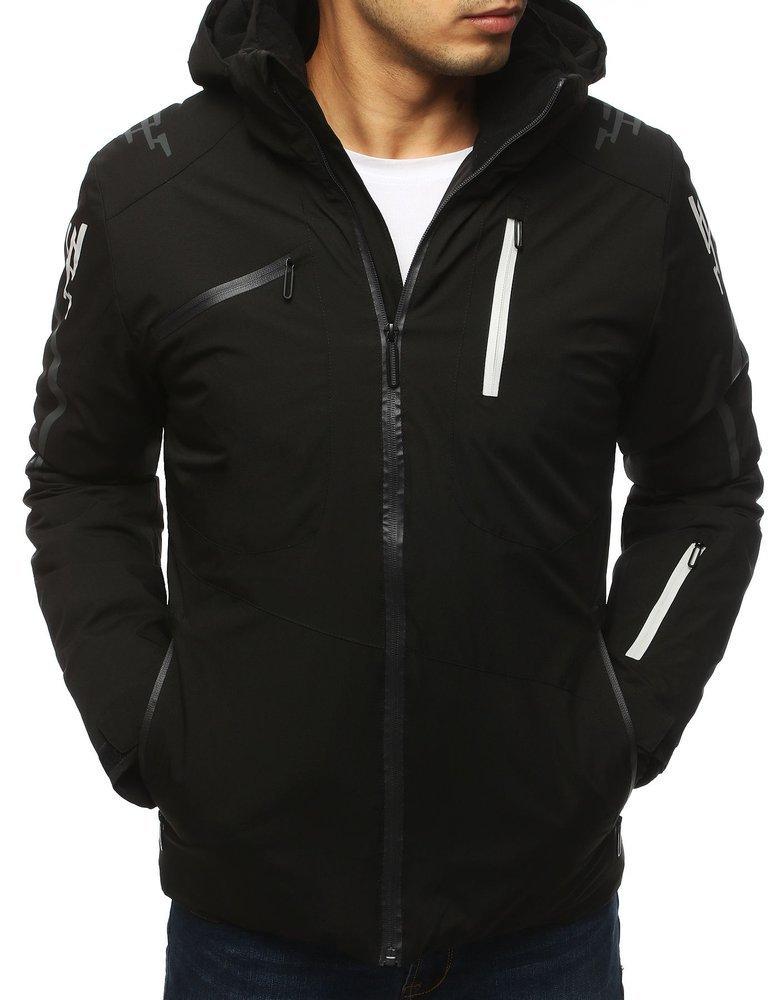 Pánska lyžiarska  zimná bunda čierna