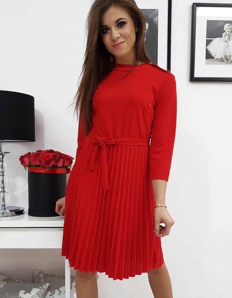 Plisované šaty červené