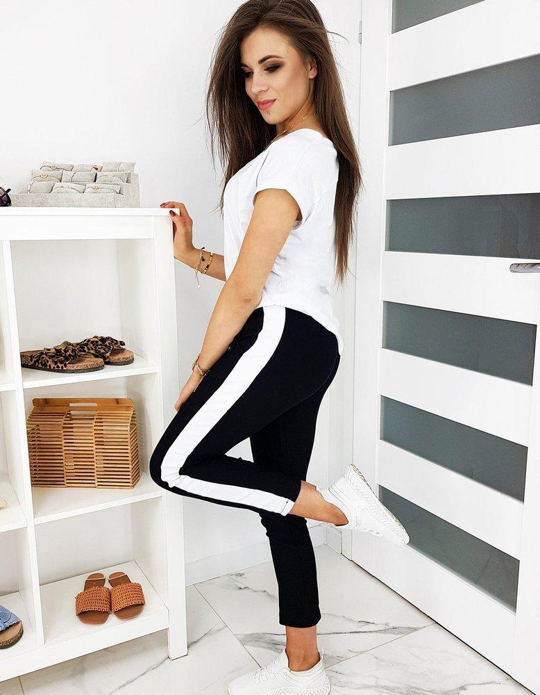 Spodnie damskie SUMMER DAY czarne UY0483