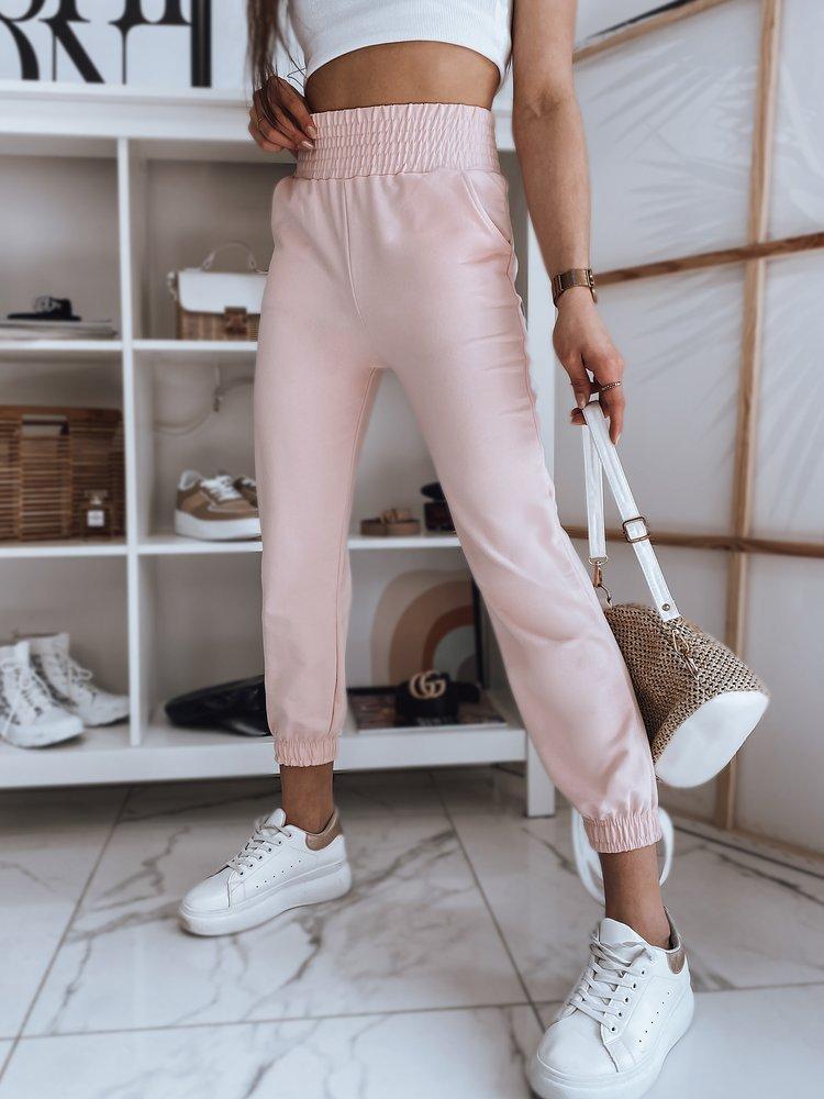 Spodnie damskie dresowe LANNY różowe Dstreet UY0839