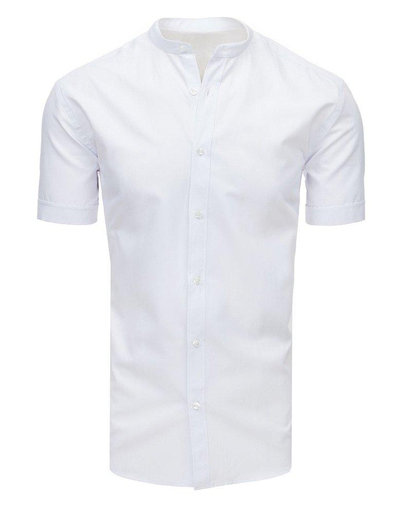 Biela pánska košeľa s krátkym rukávom (kx0898)