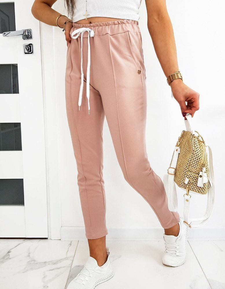 Spodnie damskie MISTIC różowe UY0512