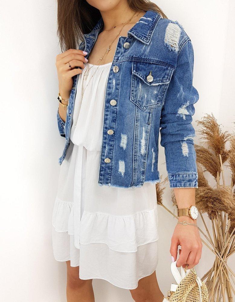 Kurtka damska jeansowa BETERS niebieska TY1241