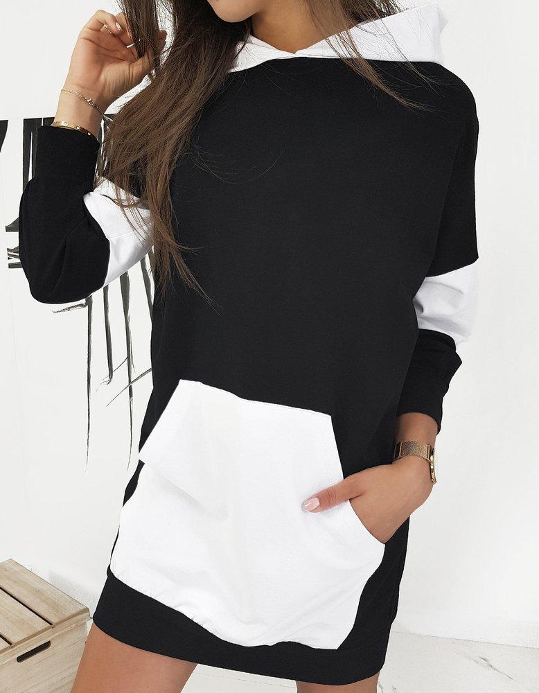 Čierne tunikové šaty