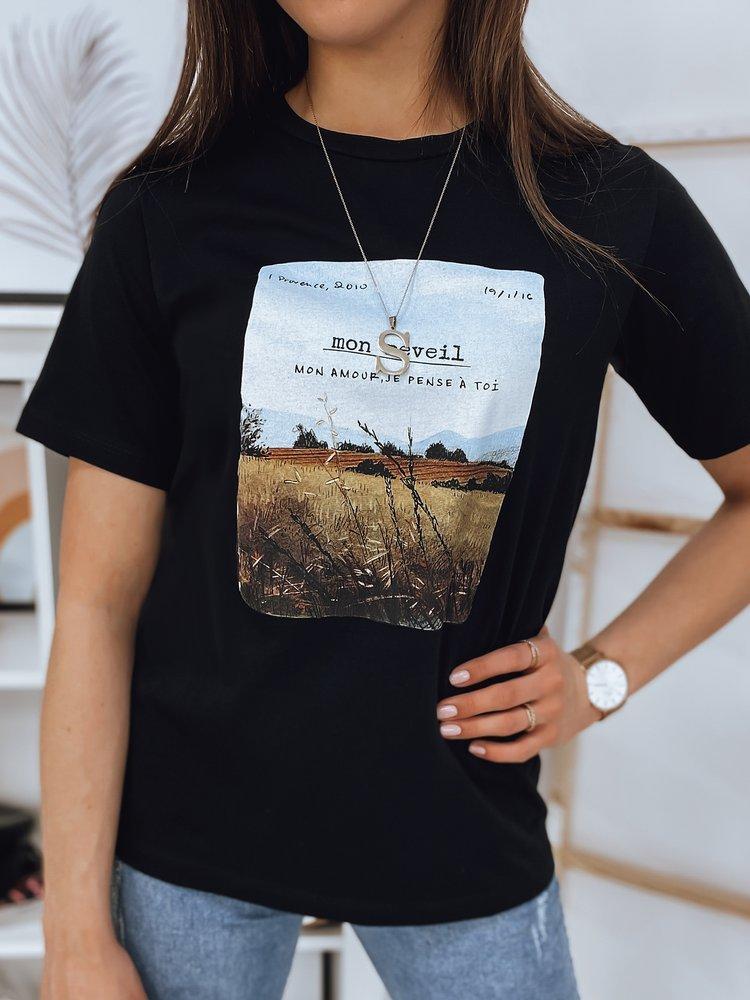 T-shirt damski MON REVEIL czarny Dstreet RY1626
