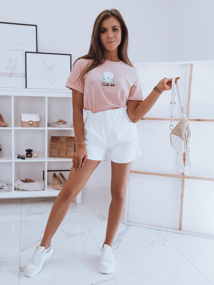 T-shirt damski VAN GO różowy Dstreet RY1748