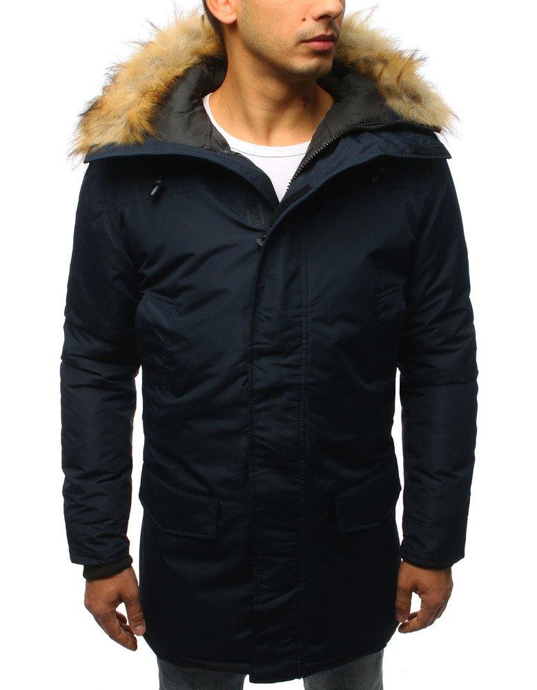 Granátová pánska zimná bunda (tx2440)
