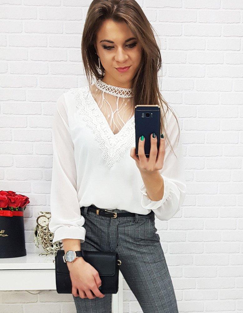Biała bluzka damska MEGI (ry0597)