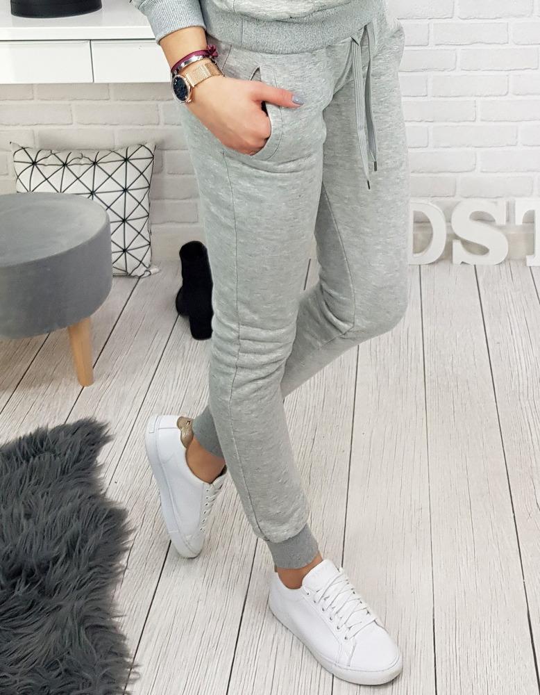 Spodnie dresowe FITT damskie szare UY0132