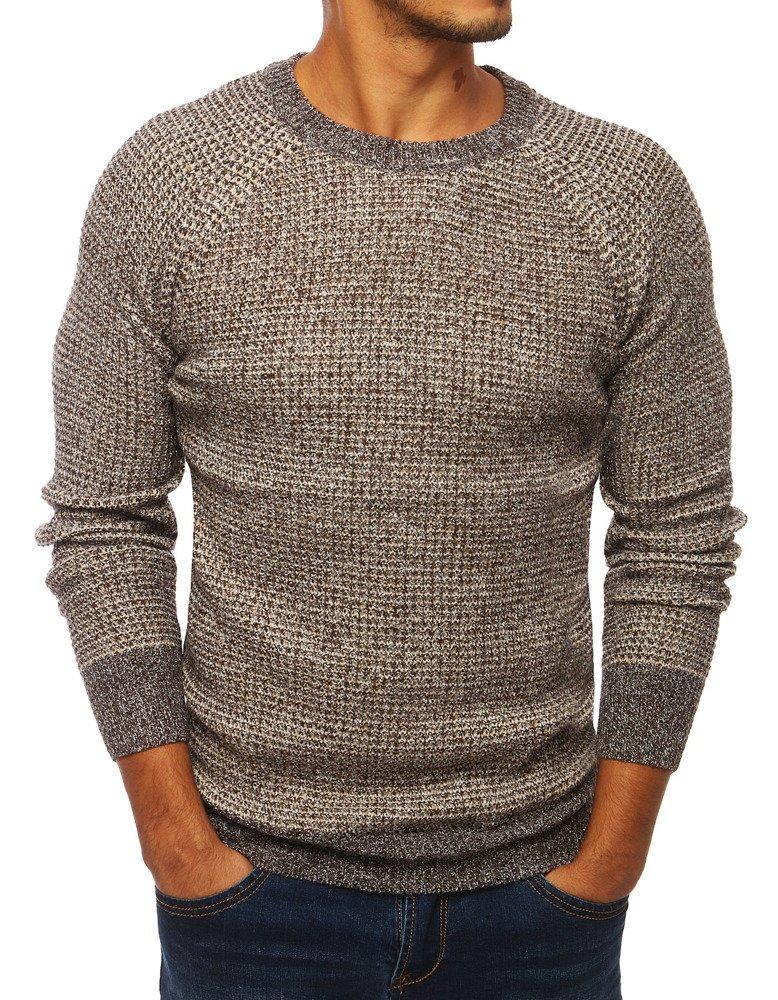 Pánsky sveter hnedý