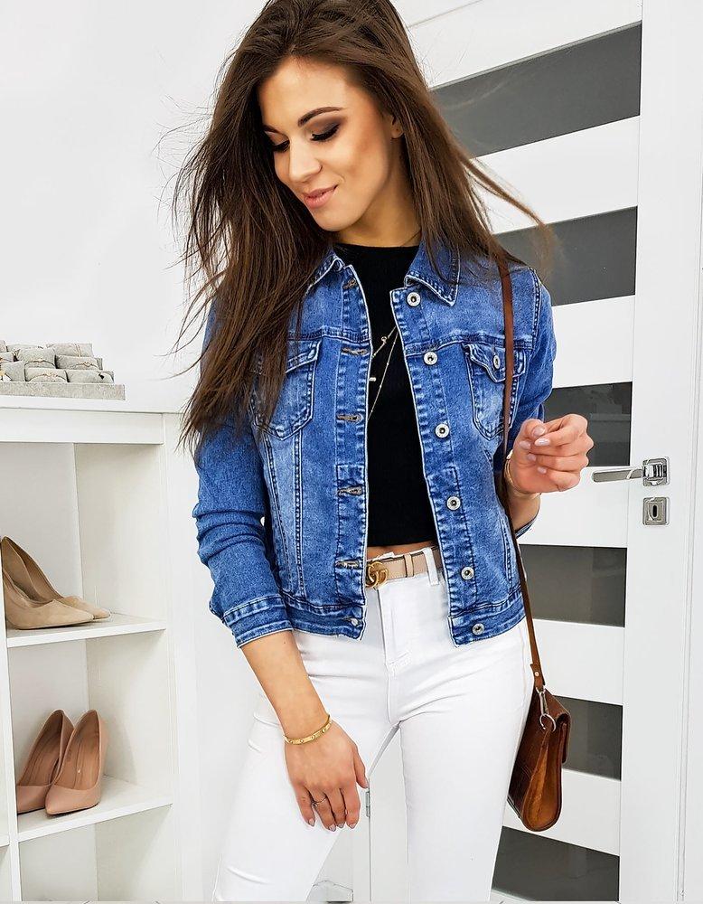 Kurtka damska jeansowa MILSON niebieska TY1117