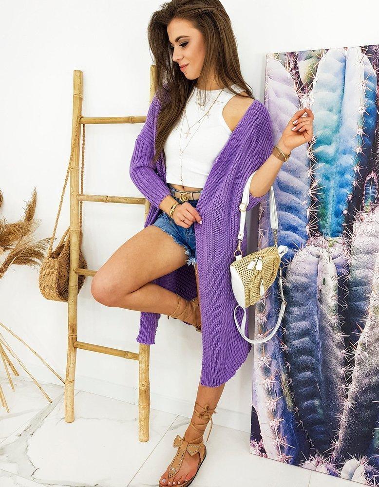 Sweter damski kardigan BARTERO lilac MY0767