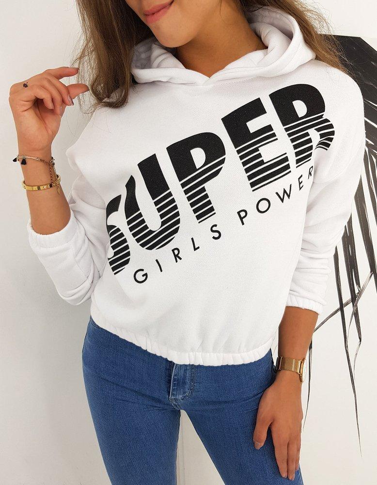 Bluza damska SUPER GIRLS biała BY0488