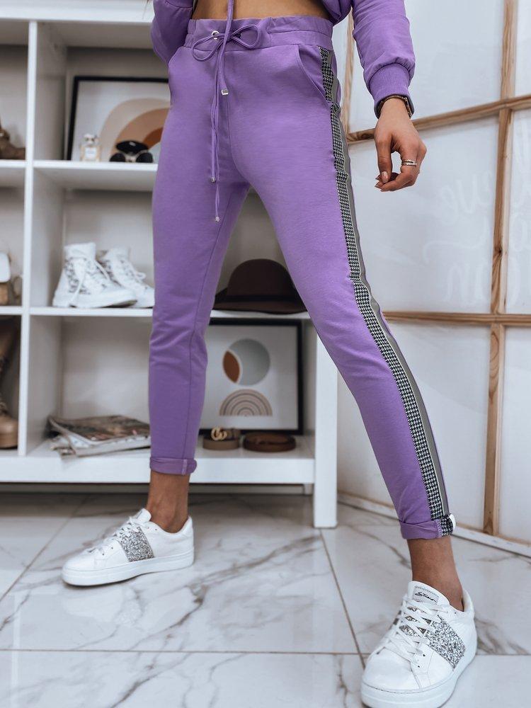 Spodnie damskie ELEN liliowe Dstreet UY0751