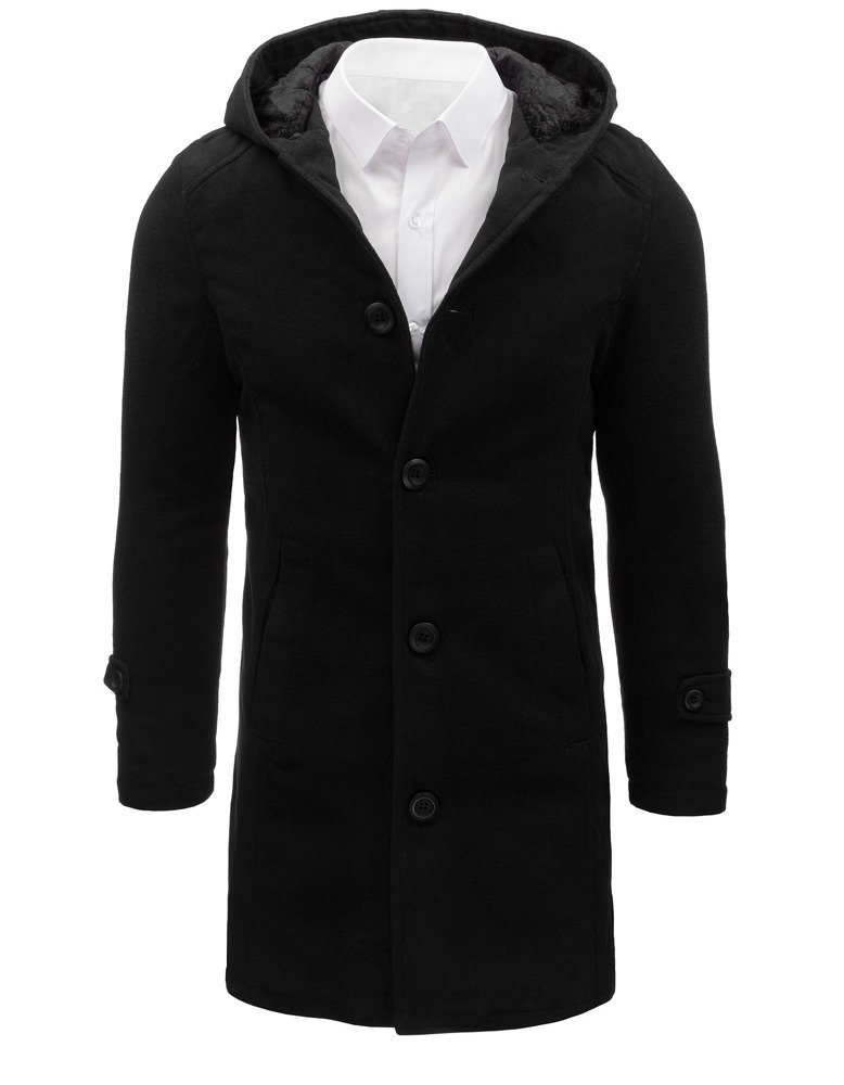 Jednoradový čierny kabát pre pánov (cx0367)