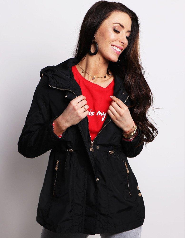 Čierna dámska párka s kapucňou (ty0563)