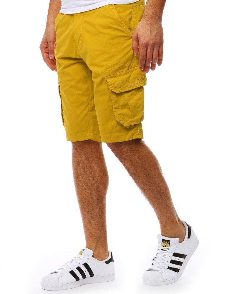 Šortky panské žlté s vreckami