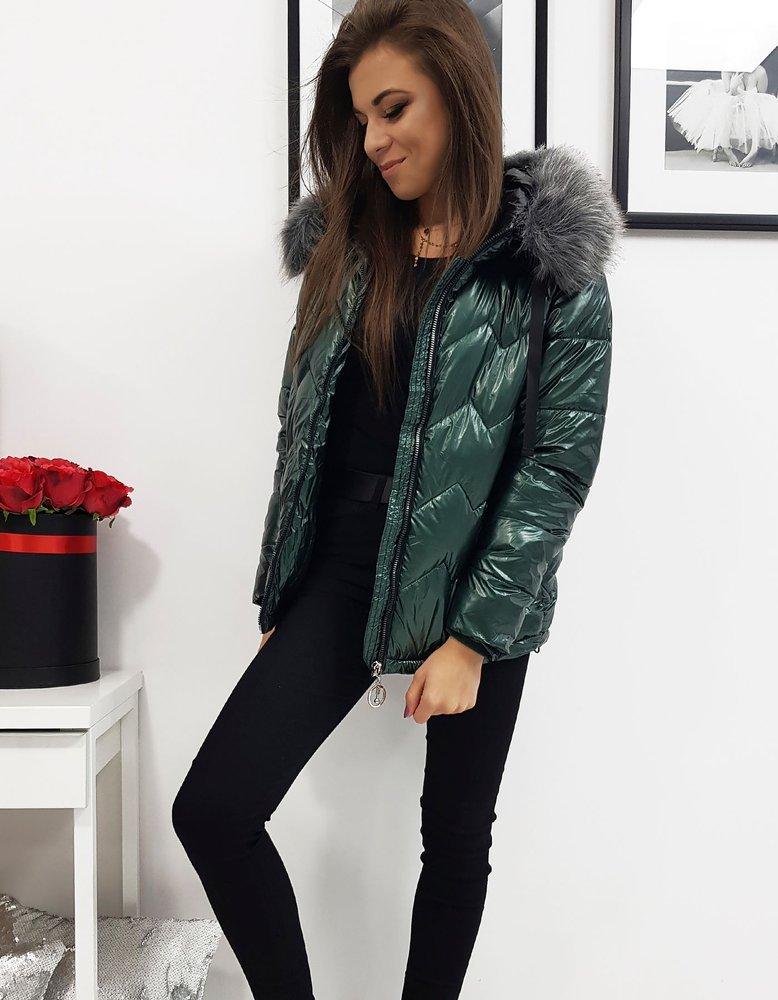 Dámska zimná bunda olivova