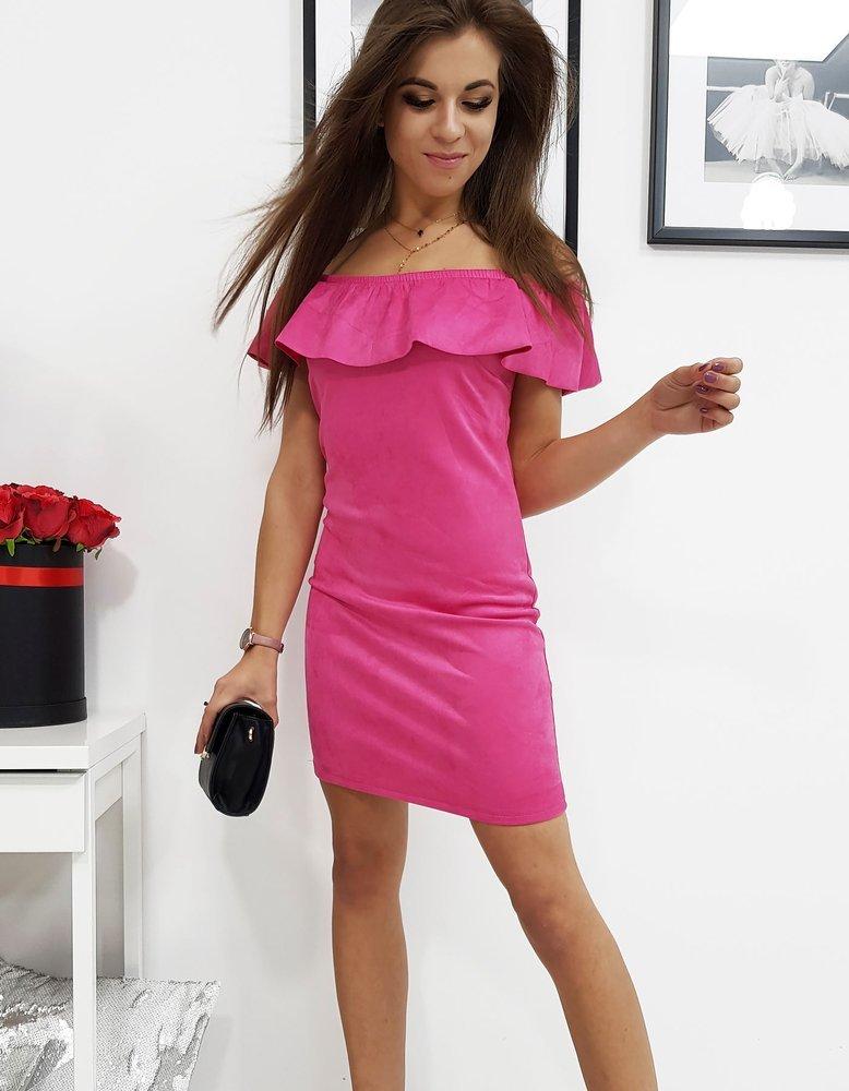 Štýlové ružové dámske šaty CAMILLE (ey0784)