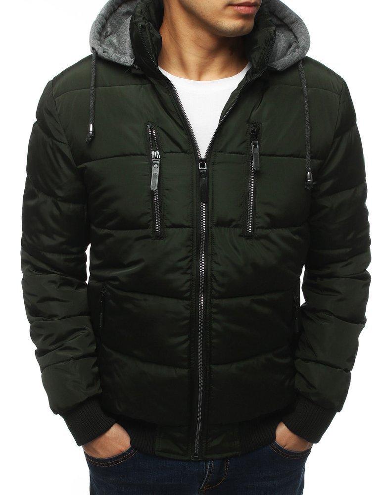 Pánska khaki zimná bunda (tx3126)