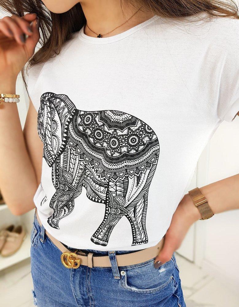T-shirt damski ELEPHANT biały RY1323
