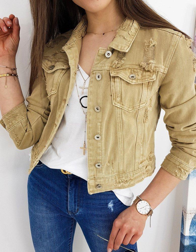 Kurtka damska jeansowa BUENOS beżowa TY1249