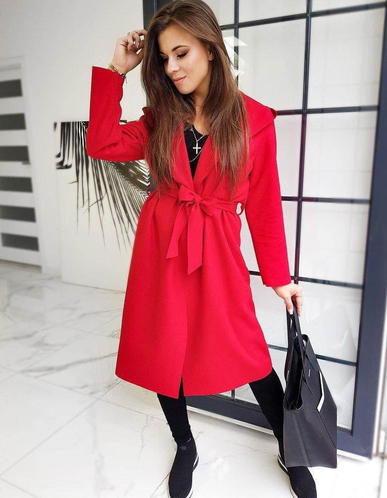 Płaszcz damski BASIC MODERNO czerwony Dstreet NY0363