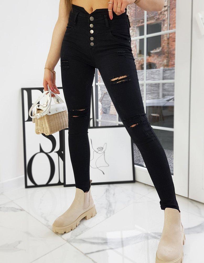 Spodnie damskie jeansowe NOVELIO czarne Dstreet UY0713
