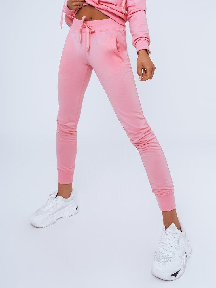 Spodnie damskie dresowe LARA różowe Dstreet UY0957