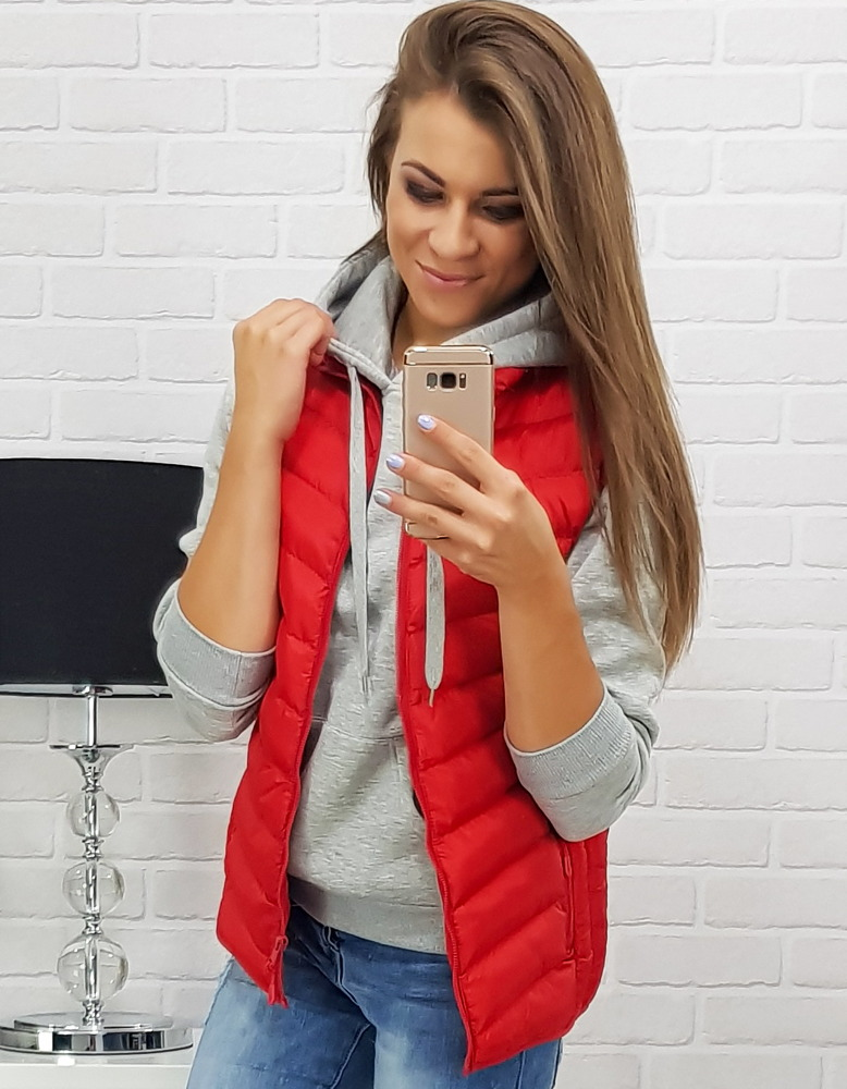 Kamizelka NILDA damska pikowana czerwona (tx2293)