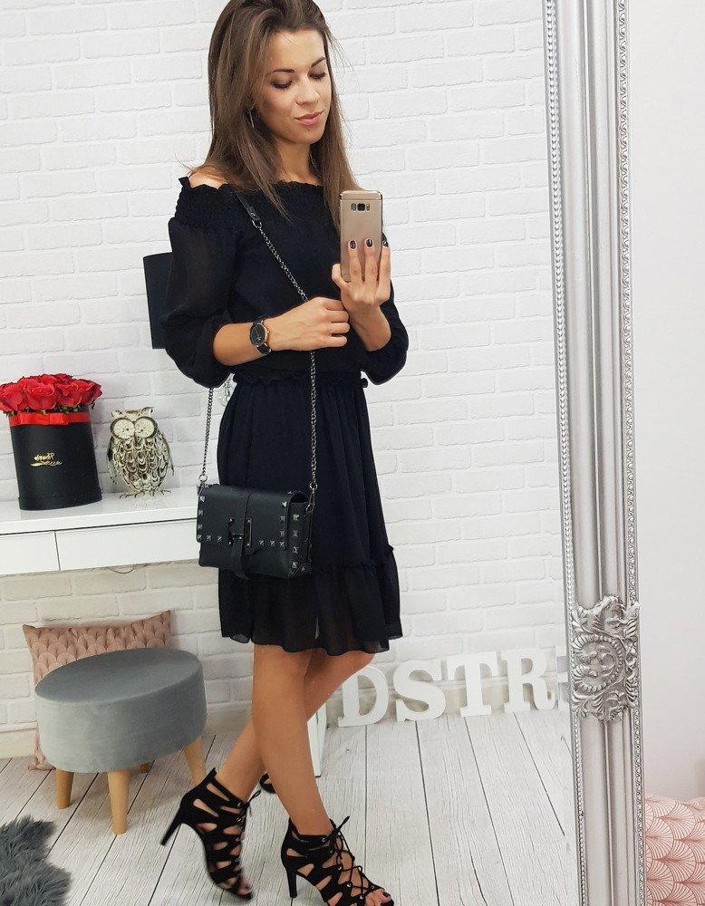 Čierne dámske šaty (ey0501)