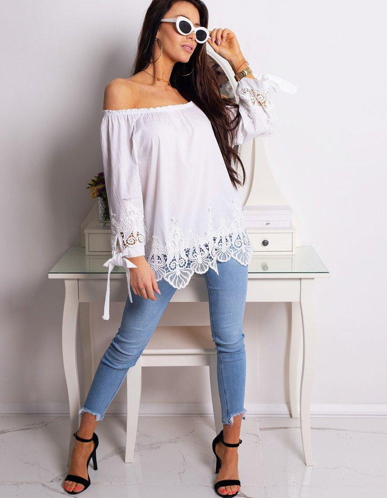 Bluzka damska MATILDE biała (ry0673)