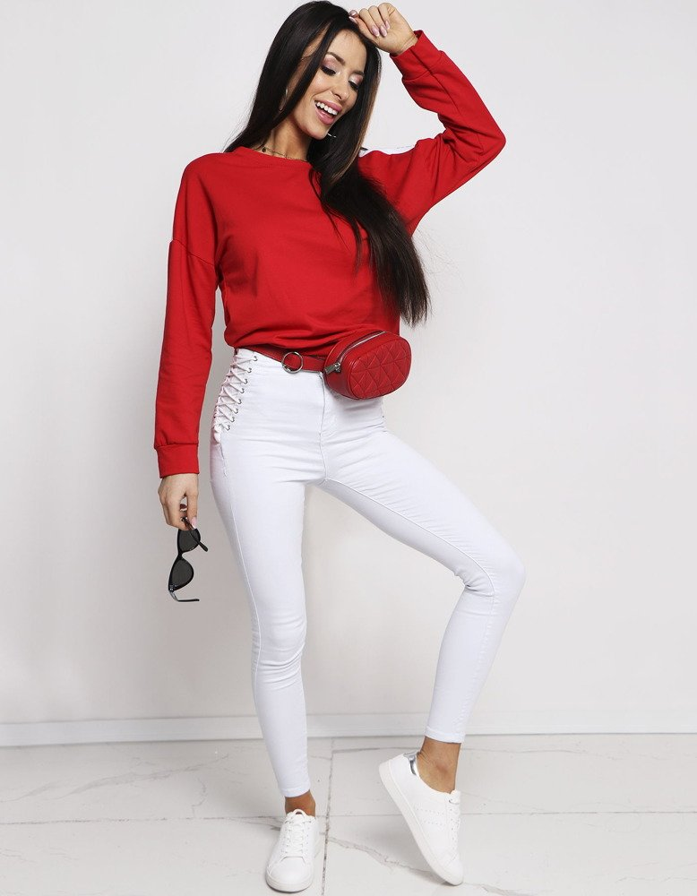 Bluza damska NEON czerwona BY0180