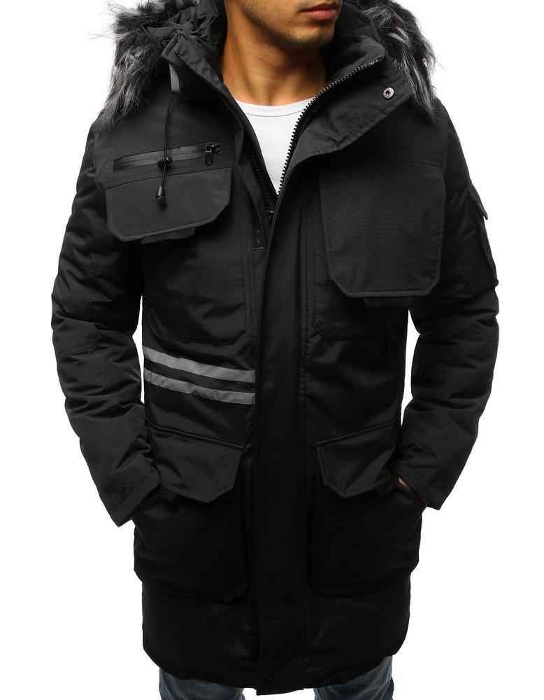 Trendová zimná pánska bunda s kapucňou (tx3043)