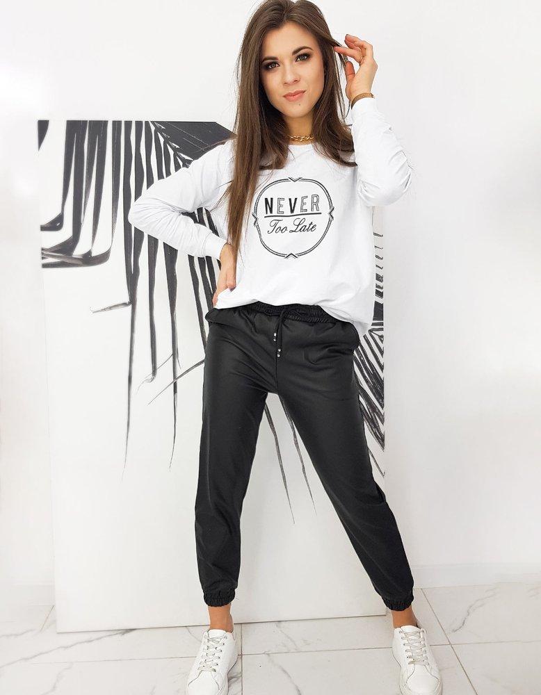 Čierne koženkové nohavice DANNY UY0659
